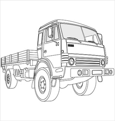 flatbed truck vector image