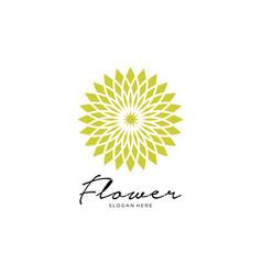 flower logo design abstract vector image