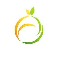 fruit logo apple lemon health diet concept symbol vector image