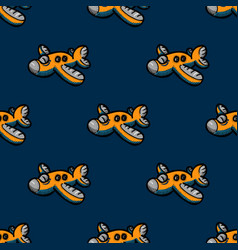 Funky airplane seamless pattern vector