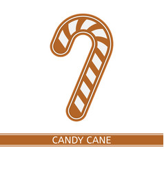 gingerbread candy cane isolated vector image