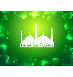 glowing ramadan kareem background vector image