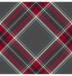 Gray red diagonal check tartan textile seamless vector