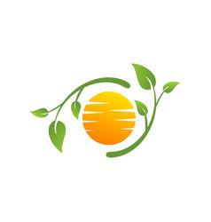 green nature and summer logo vector image