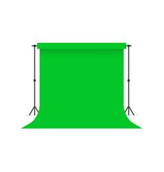 Green paper studio backdrop vector