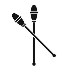 gymnastics sticks icon simple style vector image