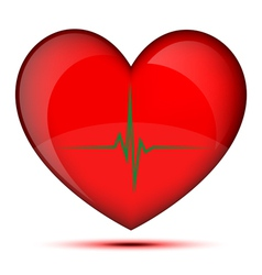 Healthy glowing heart vector