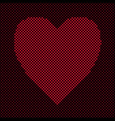 heart shaped background design from red dots - vector image