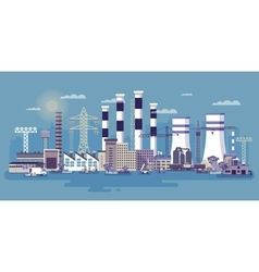 Industrial zone with factories vector