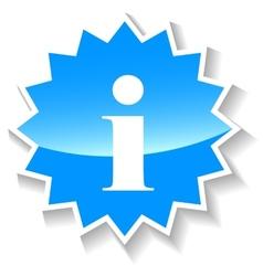 Info blue icon vector