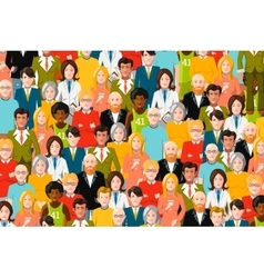 International crowd of people flat vector image