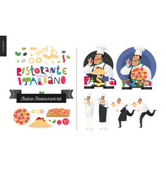 Italian restaurant set vector
