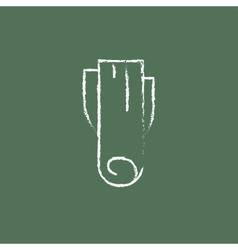 Leek icon drawn in chalk vector image