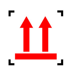 logistic sign of arrows red icon inside vector image