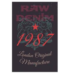 london original manufacture clothing tag vector image