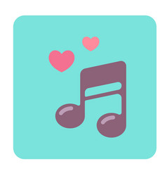 Love song flat icon vector
