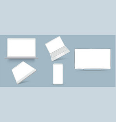 minimalistic 3d isometric set device vector image
