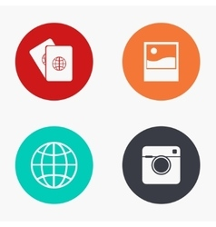 modern travel colorful icons set vector image