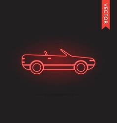 Neon Car Icon Car Icon Car Icon Object Car Icon vector