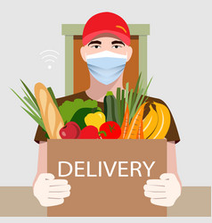 Online delivery service concept food delivery vector