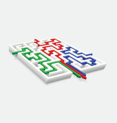 Passage of the maze vector