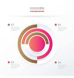 Pie chart infographics pink and sugar color vector