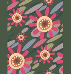 Pink flower seamless pattern floral design vector