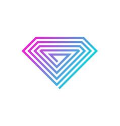 pixel diamond logo icon design vector image