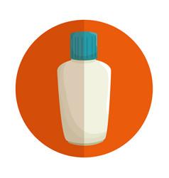 Plastic bottle blocker isolated icon vector