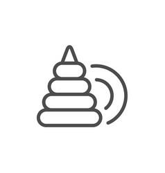 Pyramid toy line icon vector
