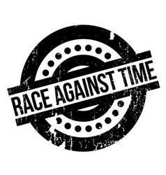 Race against time rubber stamp vector