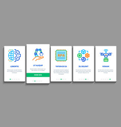 Rpa robotic process automation onboarding elements vector