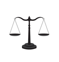 scale of justice icon vector image