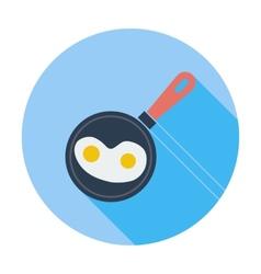 Scrambled eggs vector