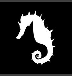seahorse it is icon vector image