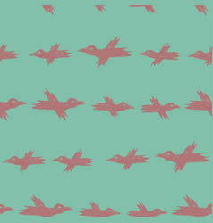 seamless cartoon pattern with pink sketch vector image