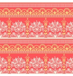Seamless color lace pattern vector image