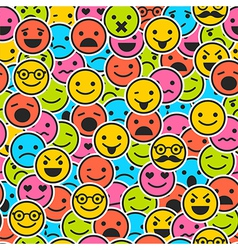 Seamless pattern with color emoticons vector image