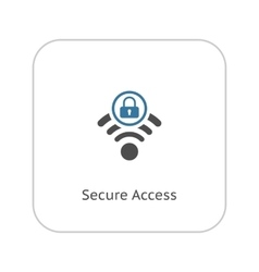Secure Access Icon Flat Design vector image