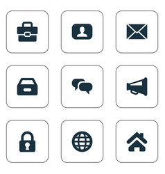 Set simple business icons vector