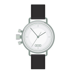 Silver wristwatch image vector