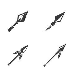 Spear logo icon vector