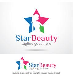 Star beauty logo template vector