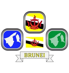symbols of Brunei vector image