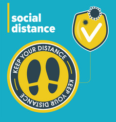 Template for banner social distance vector