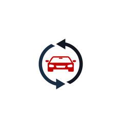 transfer automotive logo icon design vector image