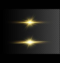 transparent glow light effect gold glitter star vector image