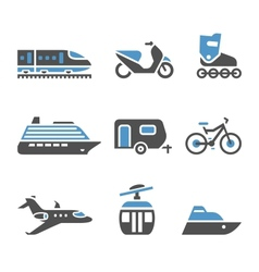 Transport icons - a set fifth vector