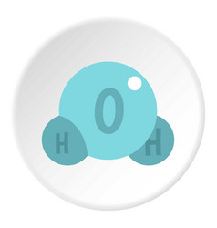 Water molecule icon circle vector