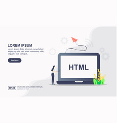 Website technology and programming concept vector